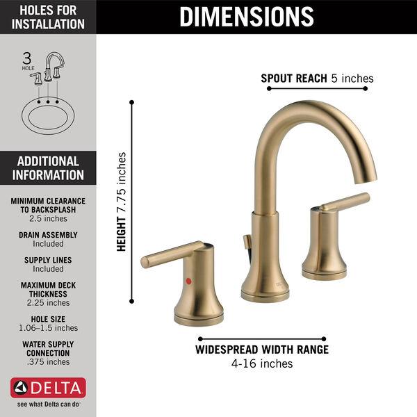 Two Handle Widespread Bathroom Faucet (Recertified), image 2