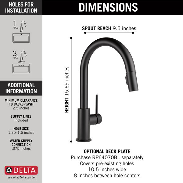 Single Handle Pull-Down Kitchen Faucet, image 2