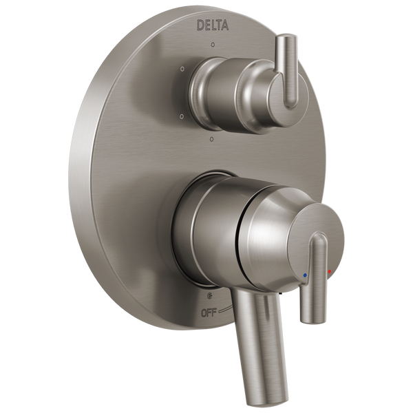 Contemporary Two Handle Monitor® 17 Series Valve Trim with 6-Setting Integrated Diverter, image 1