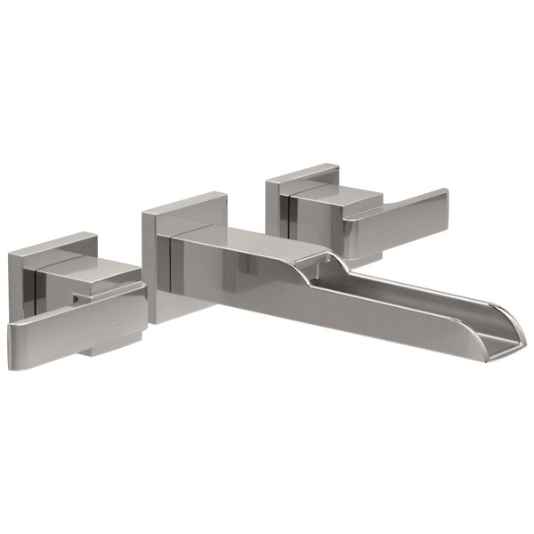 Two Handle Wall Mount Channel Bathroom Faucet Trim, image 1