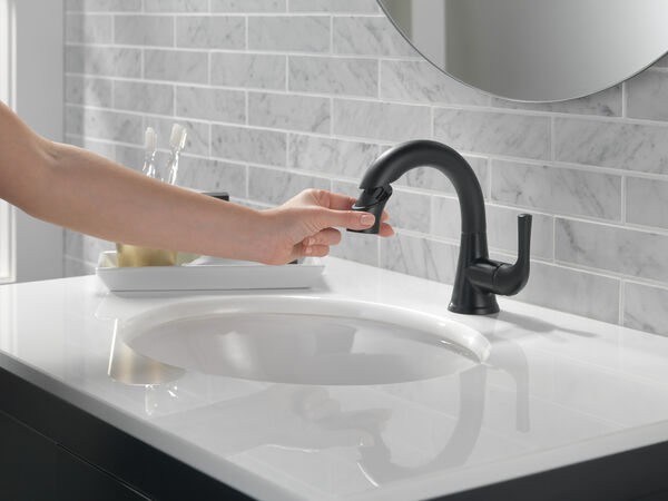 Single Handle Pull-Down Bathroom Faucet, image 5