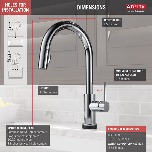 VoiceIQ™ Single-Handle Pull-Down Kitchen Faucet with Touch<sub>2</sub>O® Technology, image 2