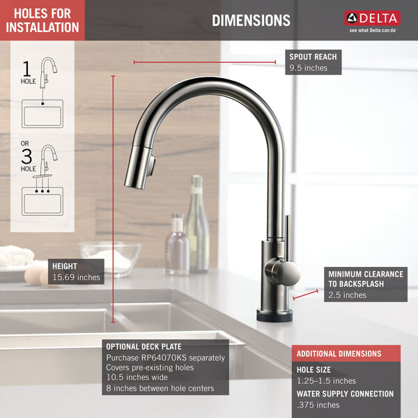 VoiceIQ™ Single-Handle Pull-Down Kitchen Faucet with Touch2O® Technology, image 3