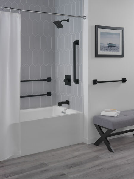 "42"" Angular Modern Decorative ADA Grab Bar, image 3"