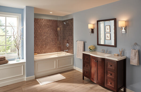 Traditional Two Handle Widespread Bathroom Faucet, image 3