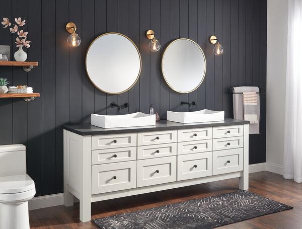 Single Handle Wall Mount Bathroom Faucet Trim, image 2