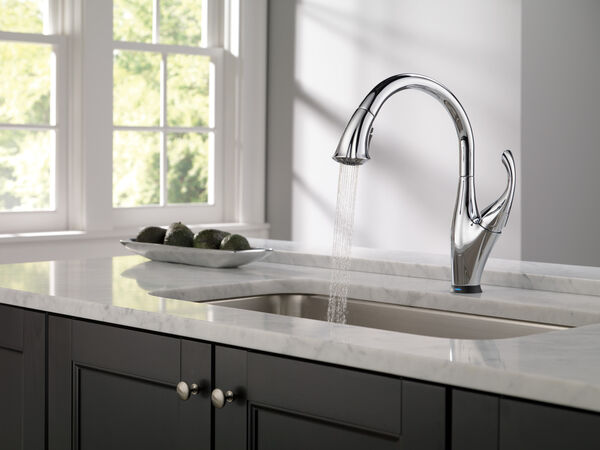 Single Handle Pull-Down Kitchen Faucet with Touch<sub>2</sub>O® and ShieldSpray® Technologies, image 13