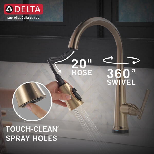 Single Handle Pull Down Kitchen Faucet with Touch2O Technology, image 7
