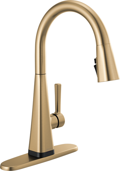 Single-Handle Pull-Down Kitchen Faucet with Touch2O® Technology, image 2