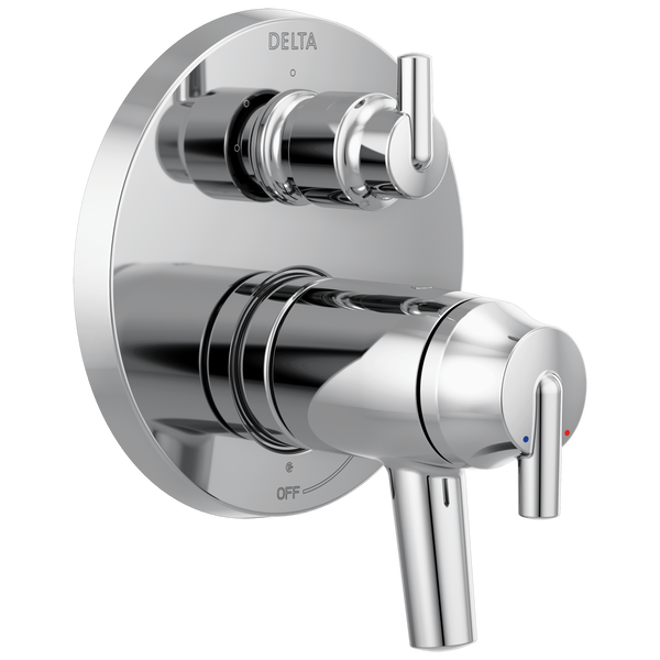 Contemporary Two Handle TempAssure® 17T Series Valve Trim with 3-Setting Integrated Diverter, image 1