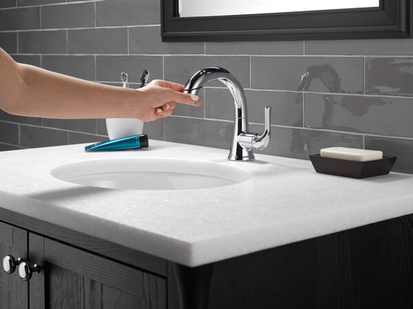 Single Handle Pull-Down Bathroom Faucet, image 8