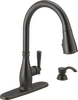 Single Handle Pull-Down Kitchen Faucet with Soap Dispenser and ShieldSpray® Technology (Recertified)