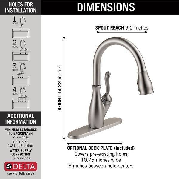 Single Handle Pull-Down Kitchen Faucet with ShieldSpray® Technology (Recertified), image 3