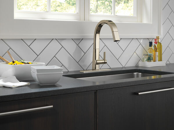 Single Handle Pull Down Kitchen Faucet, image 4