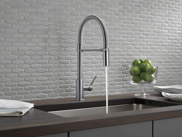 Single Handle Pull-Down Kitchen Faucet With Spring Spout, image 11
