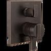 Angular Modern Monitor® 17 Series Valve Trim with 6-Setting Integrated Diverter