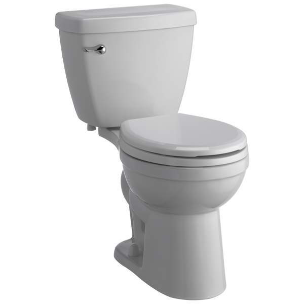 Round Front Toilet With Night Light Seat, image 1