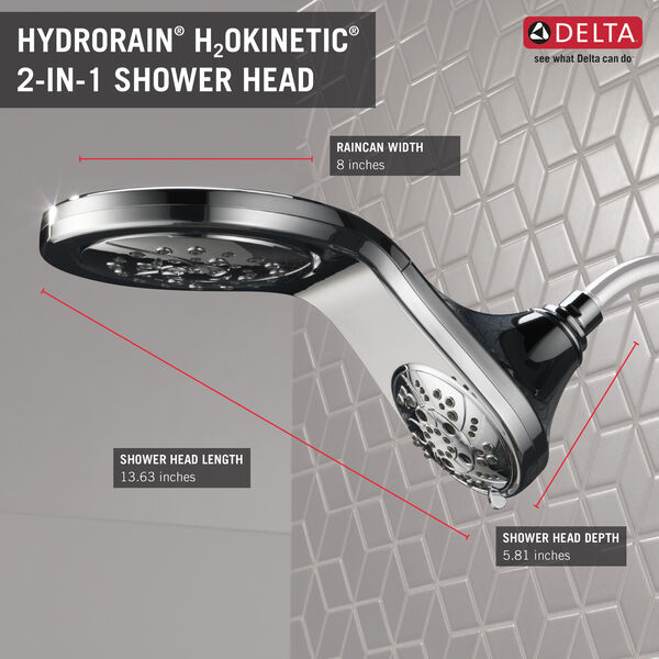 HydroRain® H<sub>2</sub>Okinetic® In2ition® 5-Setting Two-in-One Shower, image 28