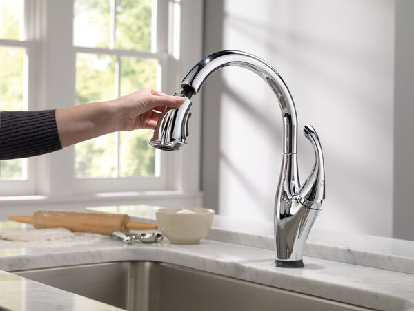 Single Handle Pull-Down Kitchen Faucet with Touch<sub>2</sub>O® and ShieldSpray® Technologies, image 10