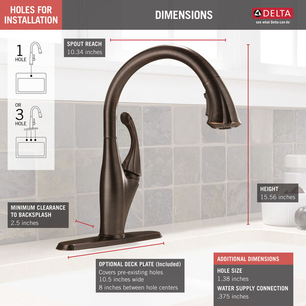 Single Handle Pull-Down Kitchen Faucet with ShieldSpray® Technology, image 5