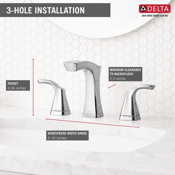 Two Handle Widespread Bathroom Faucet - Metal Pop-Up, image 5