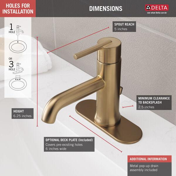 Single Handle Bathroom Faucet, image 3