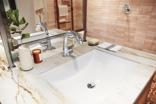 Single Handle Pull-Down Bathroom Faucet, image 3