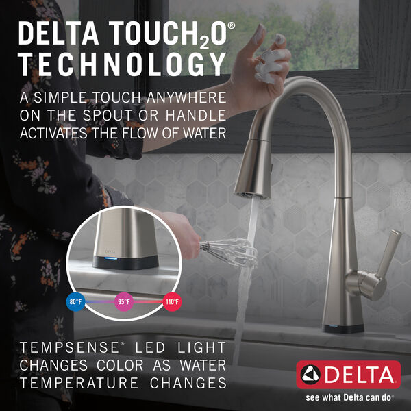 Single-Handle Pull-Down Kitchen Faucet with Touch2O® Technology, image 14