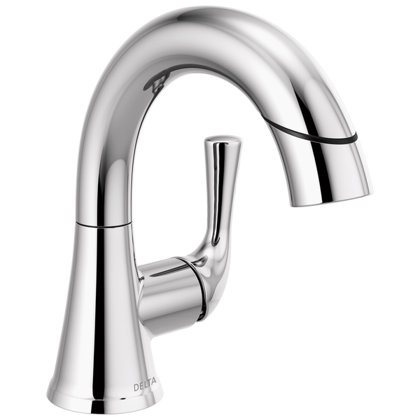 Single Handle Pull-Down Bathroom Faucet, image 1