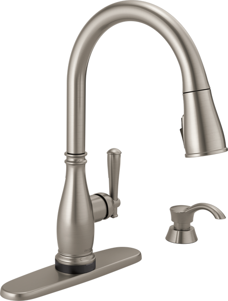 Single Handle Pull-Down Kitchen Faucet with Touch2O® and ShieldSpray® Technologies, image 2