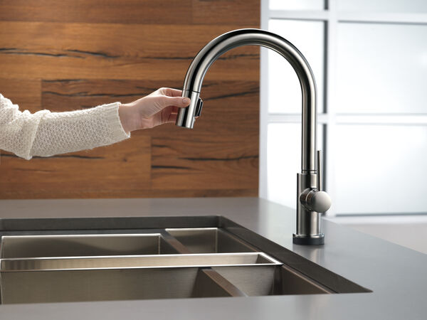 Single Handle Pull-Down Kitchen Faucet with Touch, image 8