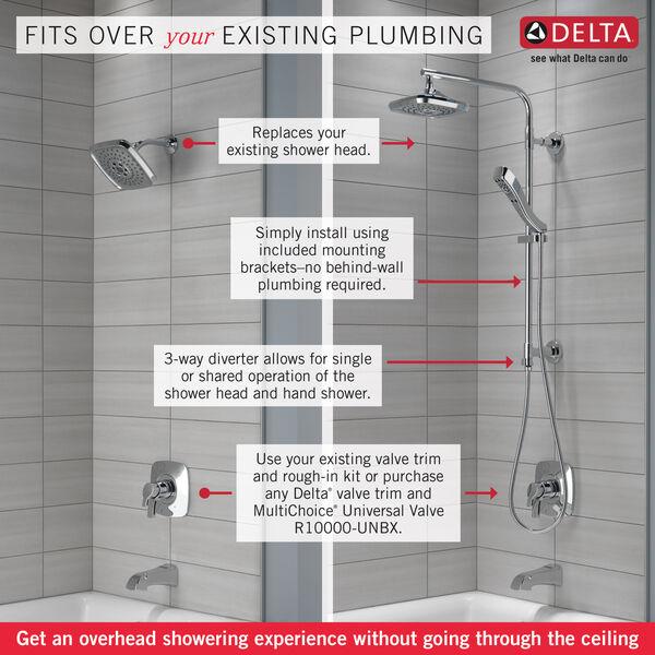 """Shower Column 26"""" Round, image 2"""