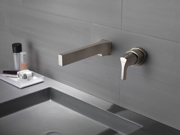 Single Handle Wall Mount Bathroom Faucet Trim, image 6