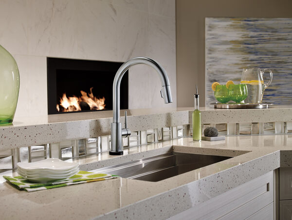 Single Handle Pull-Down Kitchen Faucet with Touch<sub>2</sub>O® Technology, image 15