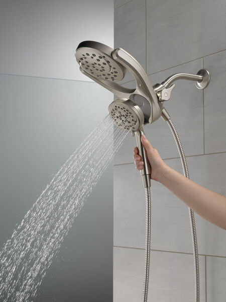 HydroRain® 4-Setting Two-in-One Shower Head, image 8