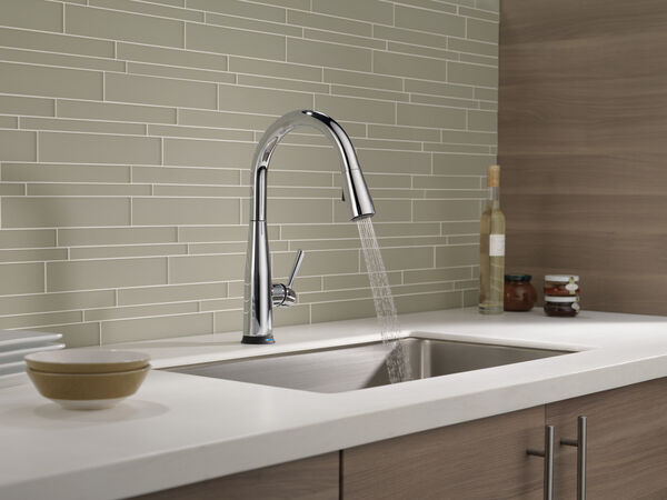 Single Handle Pull-Down Kitchen Faucet with Touch<sub>2</sub>O® Technology, image 18
