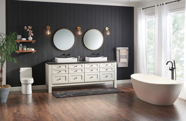 Single Handle Wall Mount Bathroom Faucet Trim, image 6