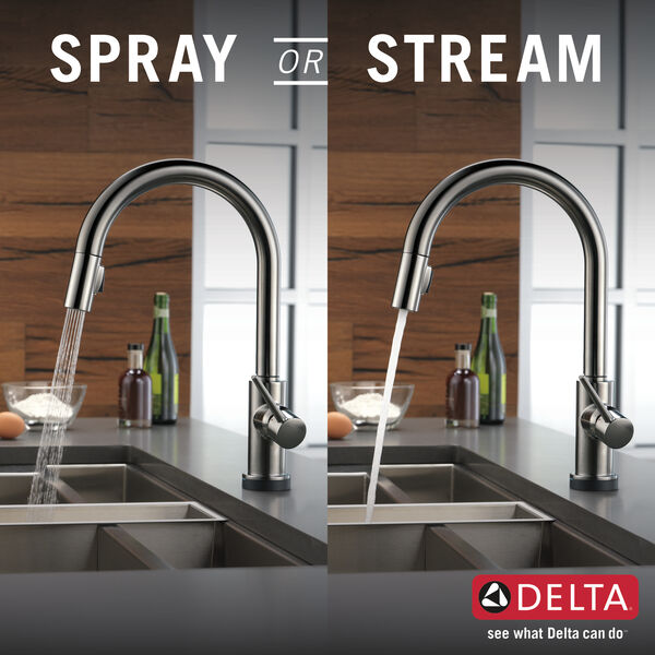 Single Handle Pull-Down Kitchen Faucet with Touch, image 3