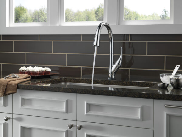Single Handle Pull-Down Kitchen Faucet with Touch<sub>2</sub>O® and ShieldSpray® Technologies, image 8