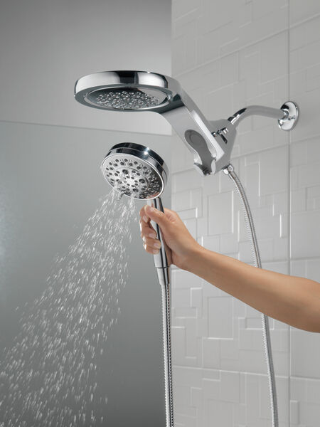 HydroRain® H<sub>2</sub>Okinetic® 5-Setting Two-in-One Shower Head, image 12