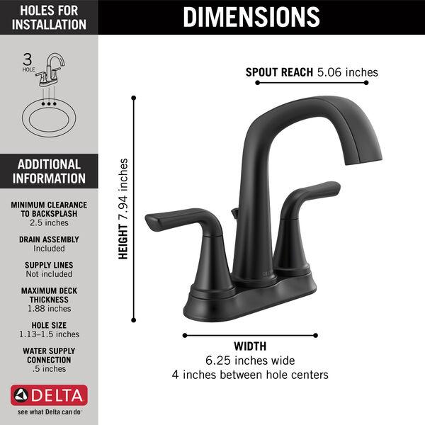 Two Handle Centerset Bathroom Faucet, image 2