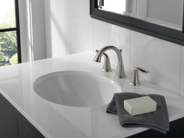 Two Handle Widespread Bathroom Faucet, Delta Lahara Bathroom Faucet