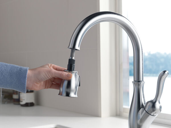 Single Handle Pull-Down Kitchen Faucet with ShieldSpray® Technology, image 12