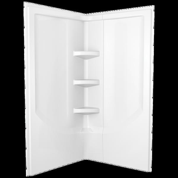 38'' Direct-to-Stud Corner Shower Wall Set, image 1