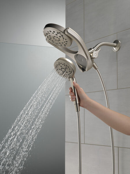 HydroRain® 4-Setting Two-in-One Shower Head, image 9