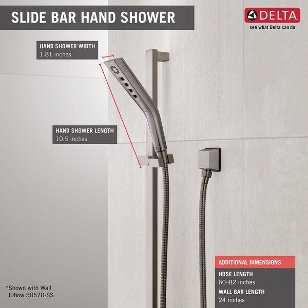 H<sub>2</sub>Okinetic® 3-Setting Slide Bar Hand Shower, image 4