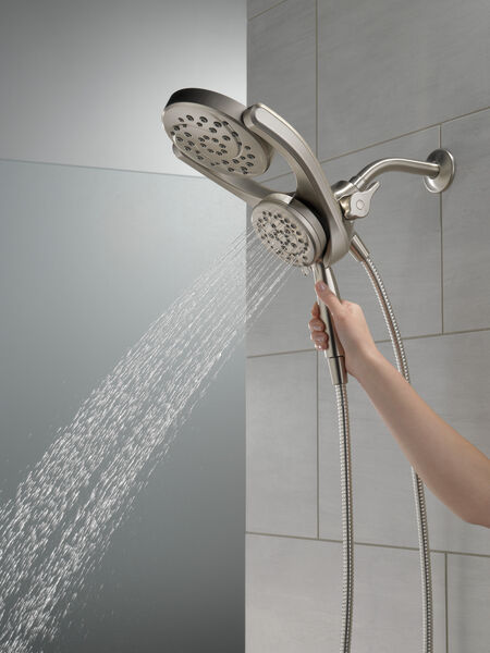 HydroRain® 4-Setting Two-in-One Shower Head, image 4
