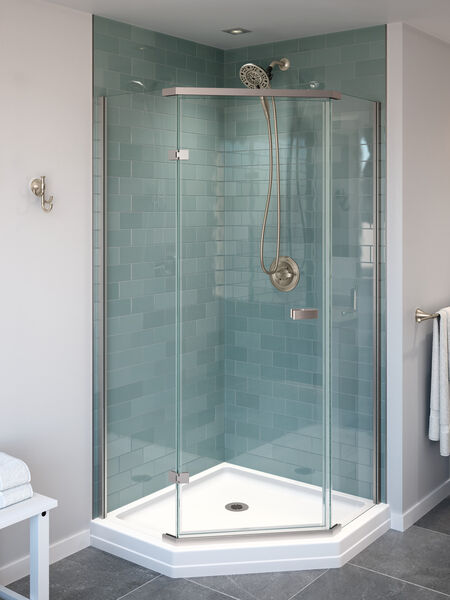 38 Frameless Neo Angle Shower Enclosure 422061 Delta Faucet