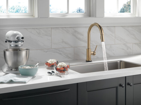 Single Handle Pull-Down Kitchen Faucet with Touch<sub>2</sub>O® Technology, image 10
