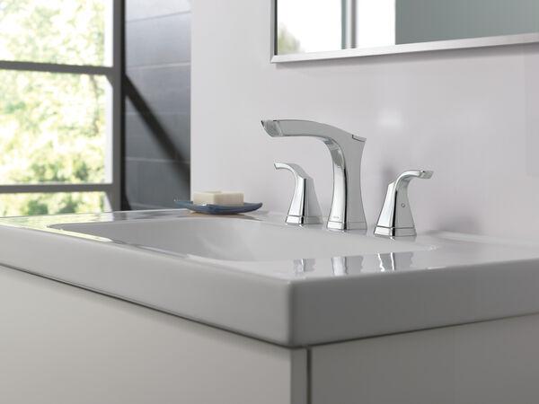 Two Handle Widespread Bathroom Faucet - Metal Pop-Up, image 10